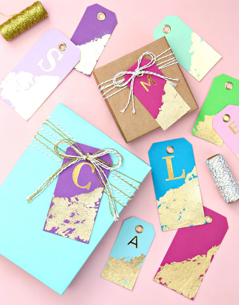 An easy tutorial for Gold Leaf Gift Tags