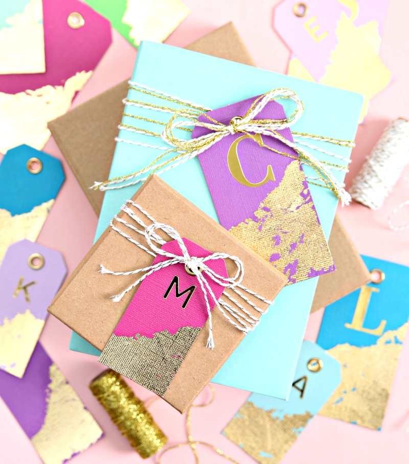 Gold Leaf Gift Tags