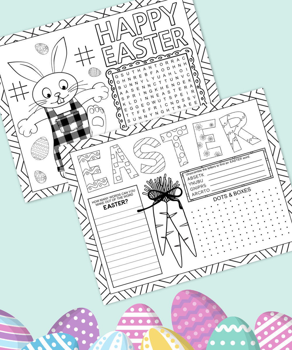 Easter Activity Placemat Printable Happy Go Lucky Blog