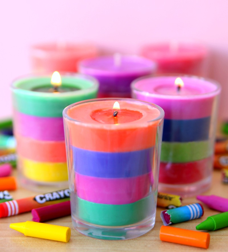 Tutorial for Layered Crayon Candles