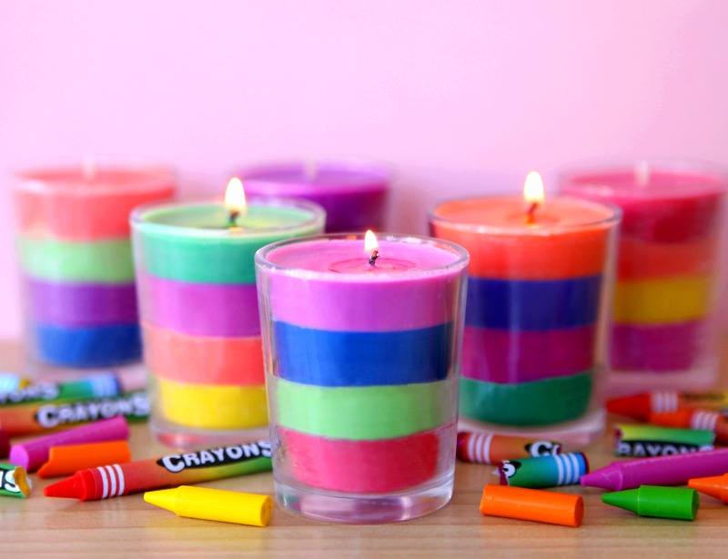 Make Your Own Layered Crayon Candles - Happy-Go-Lucky