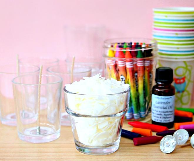 Crayon Candles Materials