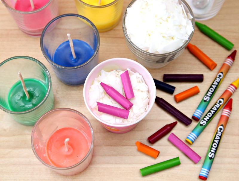 Crayon Candles Step 1