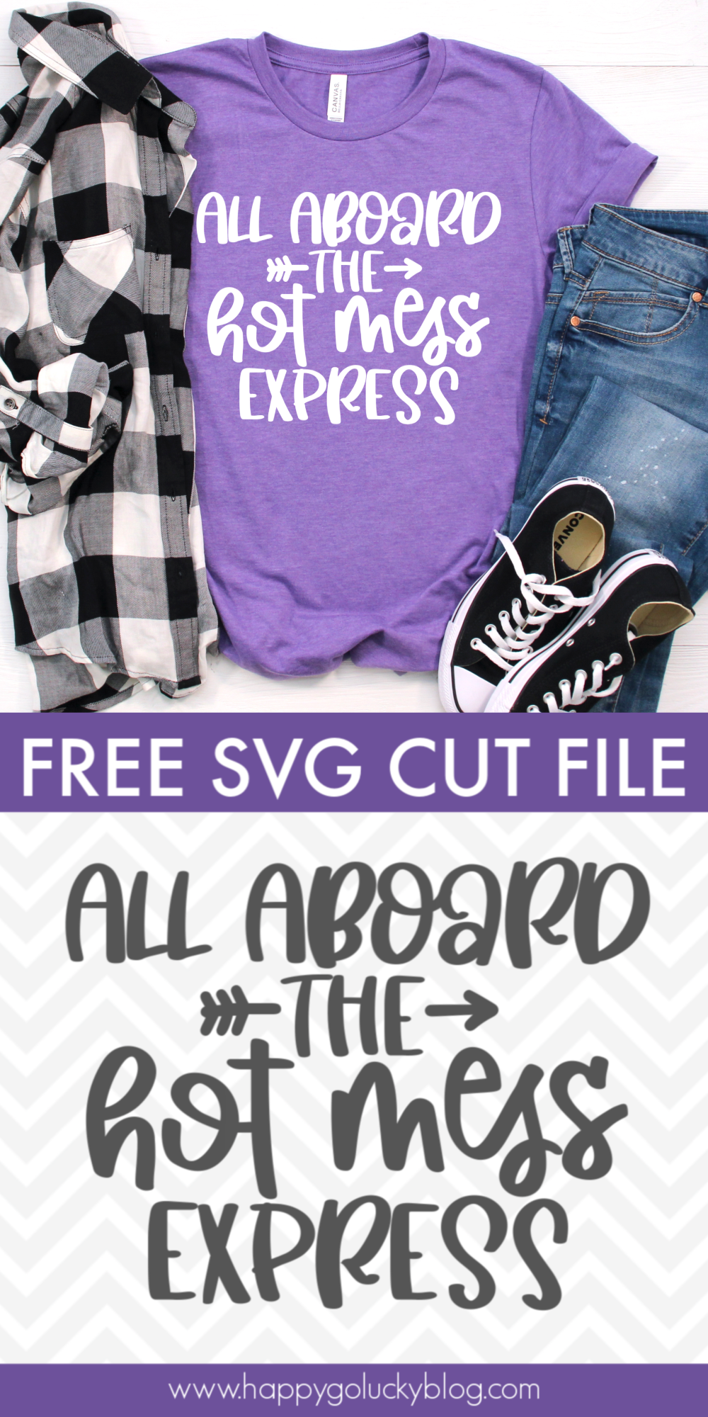 All Aboard the Hot Mess Express Free SVG Cut File