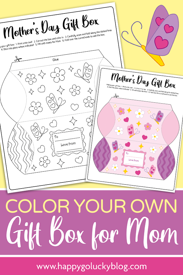 Mother's Day Gift Box Free Printable
