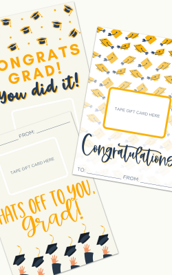 Graduation Gift Card Holder Free Printable by Happy Go Lucky