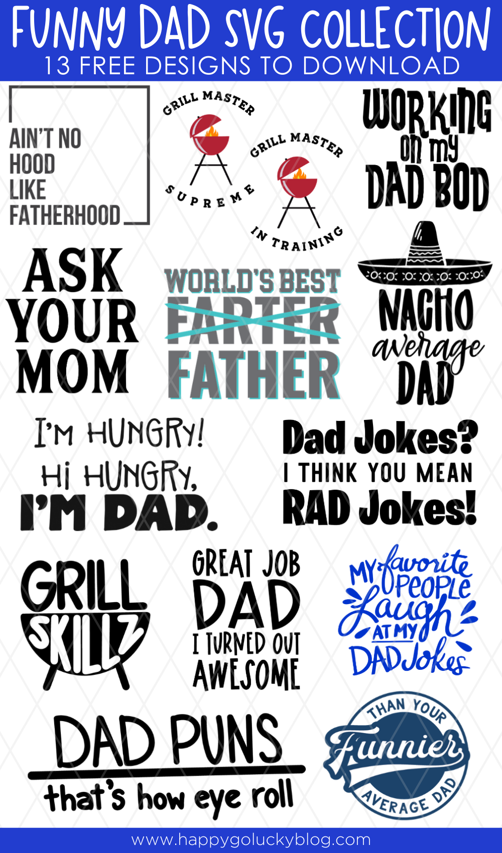 Funny Dad SVG Collection