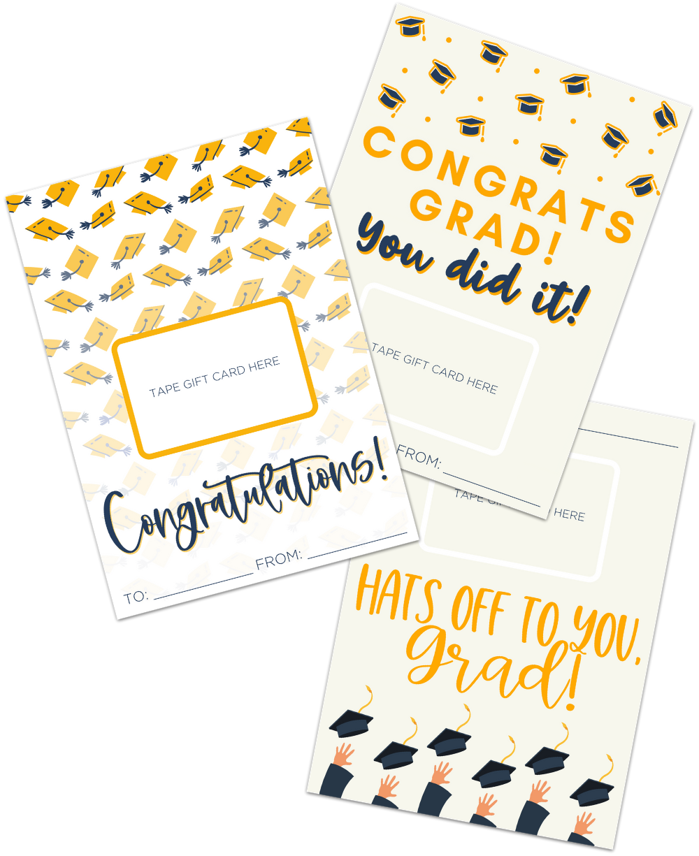 Graduation Gift card Holders Free Printable