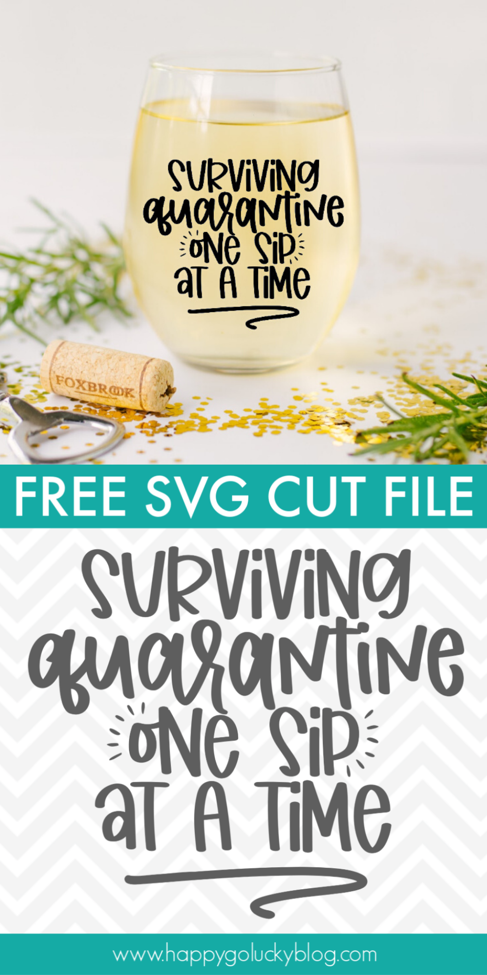 Quarantine Wine Glass SVG