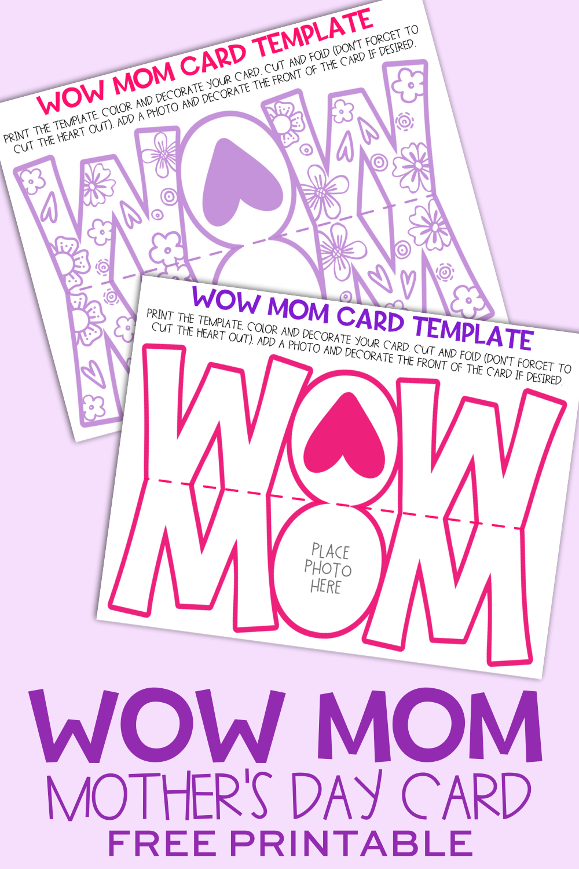 Wow Mom Card Template