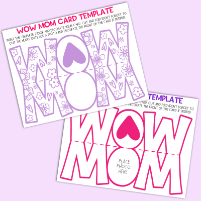 Wow Mom Mother's Day Card Template