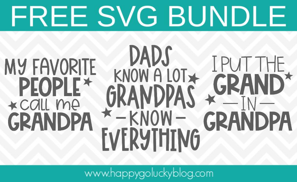 Free Grandpa SVG Bundle