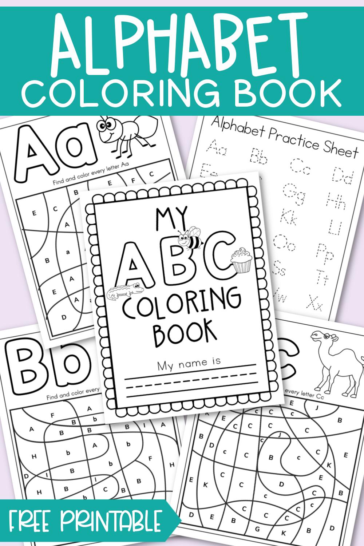 Alphabet Coloring Book Free Printable