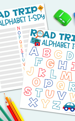 Alphabet I-Spy Road Trip Game