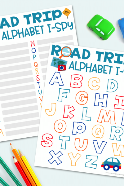 Alphabet I-Spy Road Trip Game