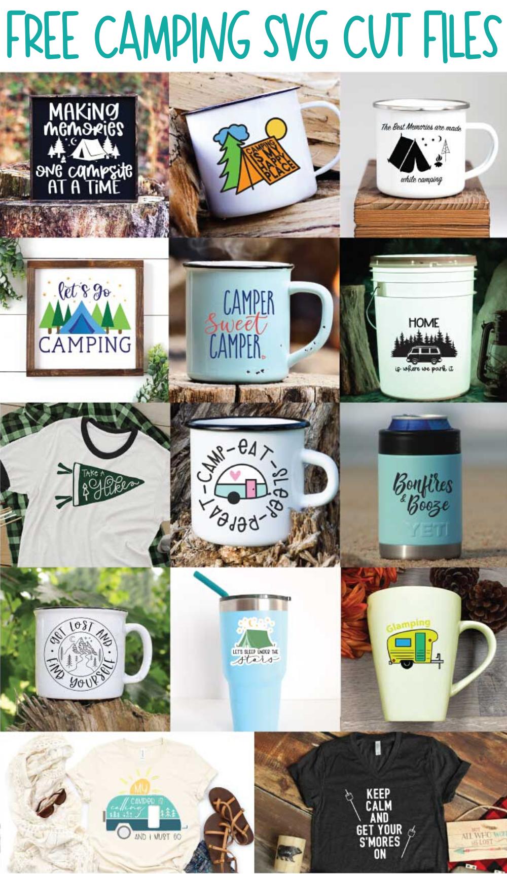 14 Free Camping Cut Files