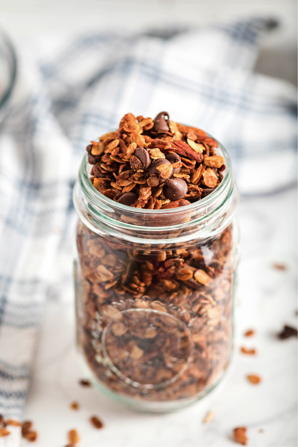 Easy Homemade Granola in Mason Jar