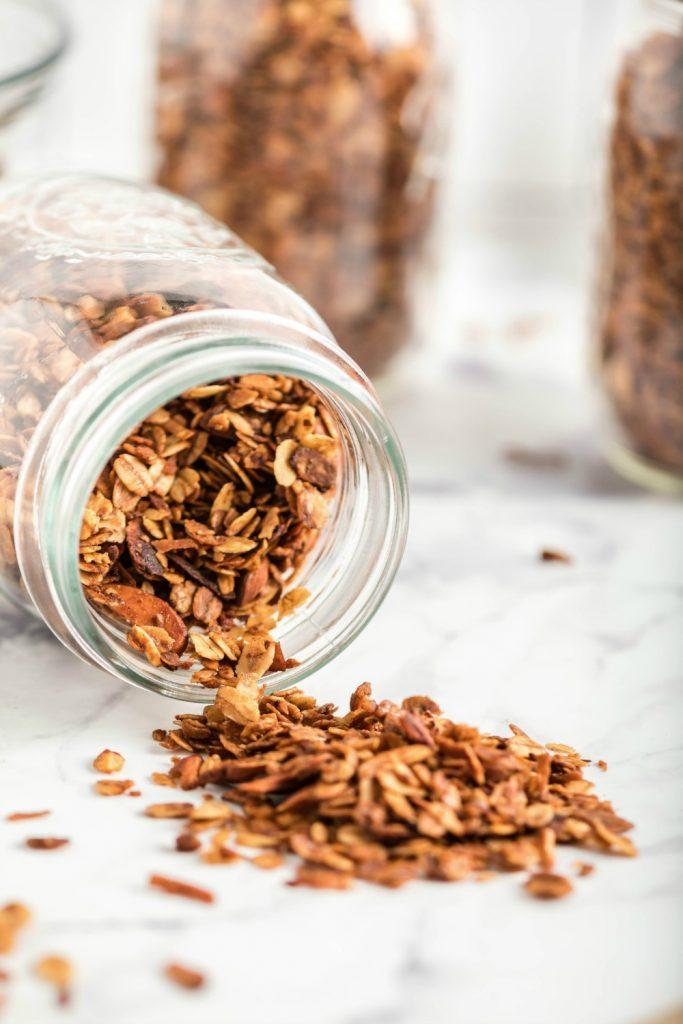 Easy Homemade Granola in Mason Jar