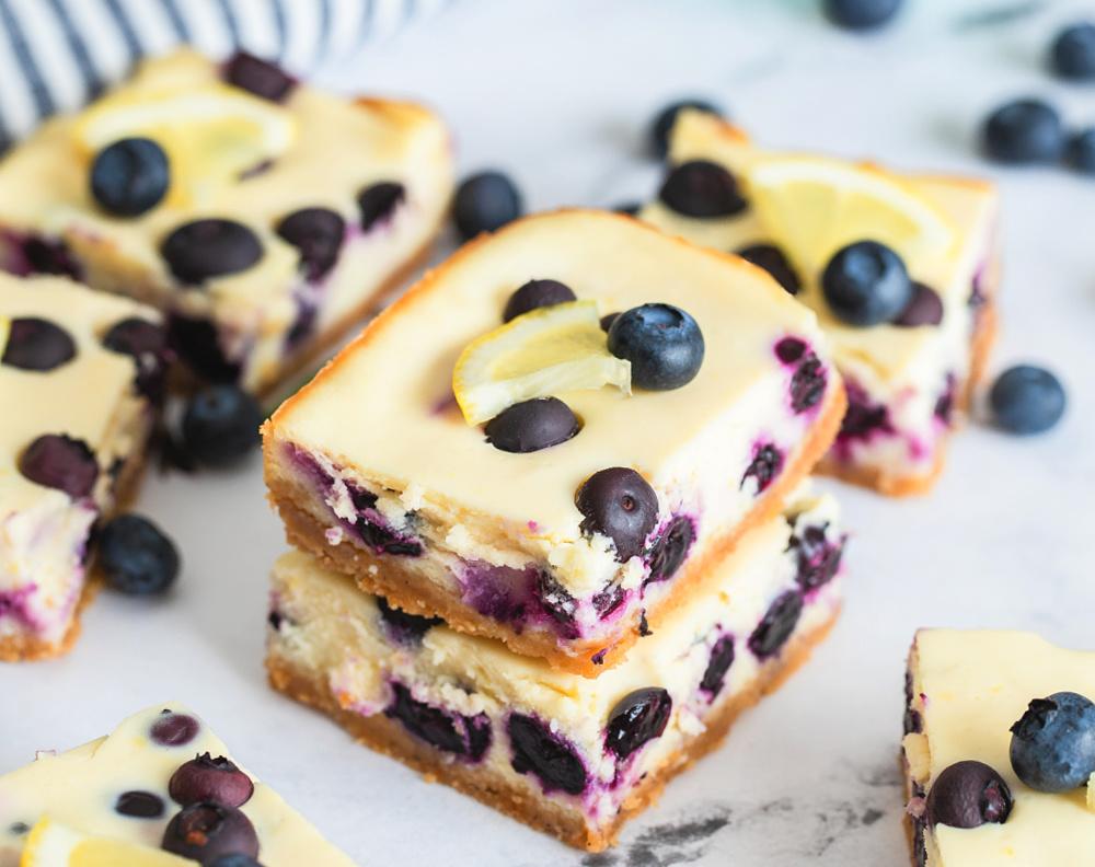 Blueberry Lemon Cheesecake Bars