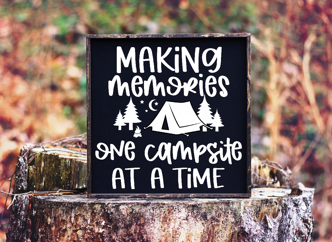 Making Memories One Campsite at a Time Free SVG