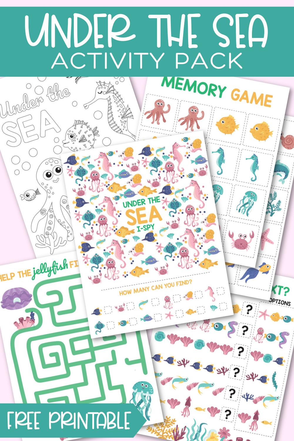 Under the Sea Activity Pack Free Printable
