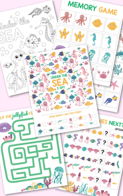 Under the Sea Activity Pack Free Printable Five Activities