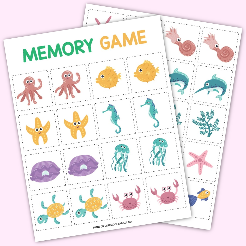Under the Sea Memory Game Free Download