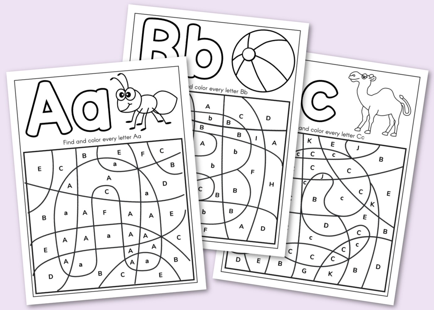 Free Printable Alphabet Coloring Book Kara Creates