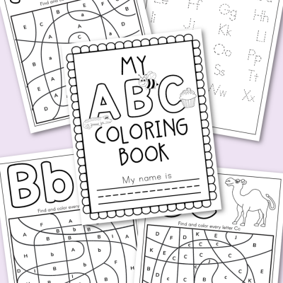 Alphabet Coloring Book Free Printable