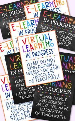E-Learning Virtual Learning in Progress Printables