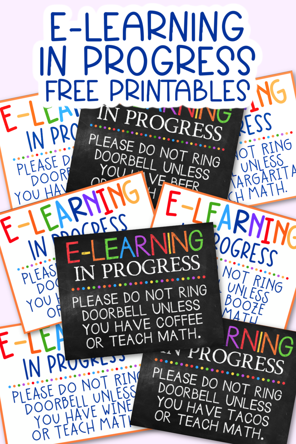 E-Learning in Progress Printables