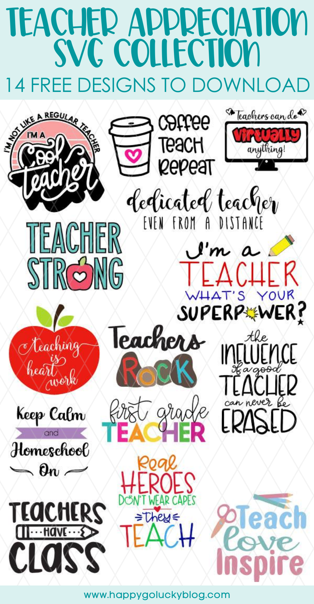 Free Teacher Appreciation SVG Collection