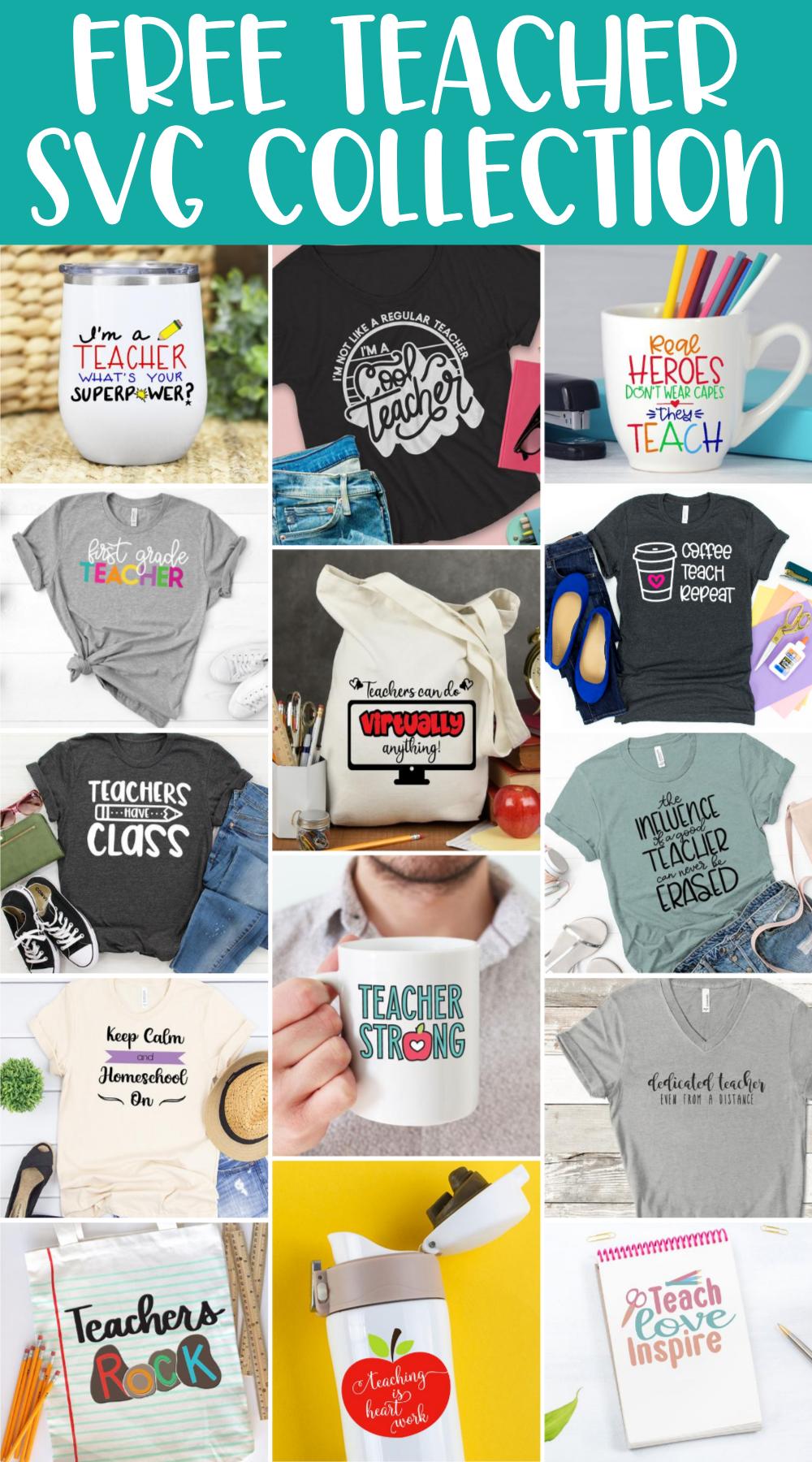 Free Teacher SVG Collection