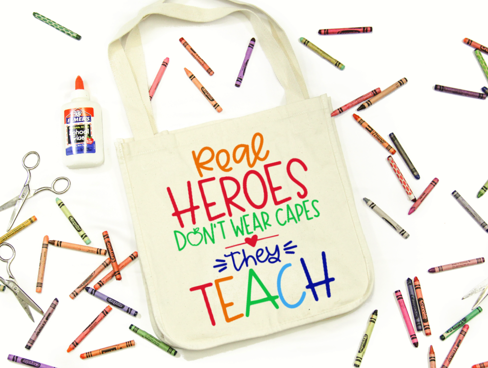 Real Heroes Teach Tote Bag