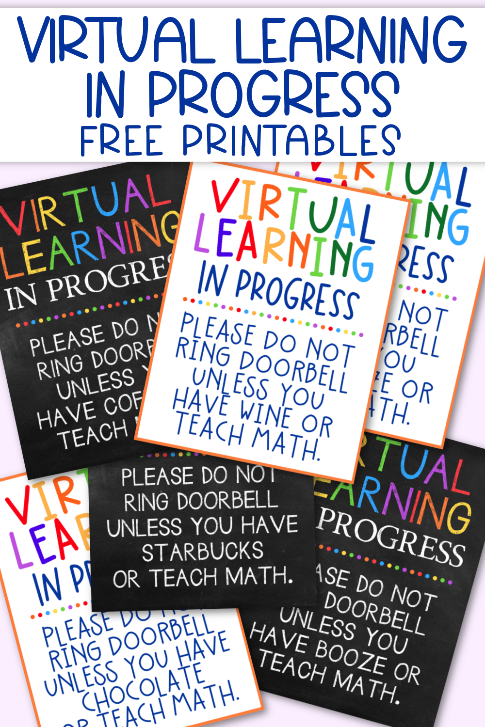 Virtual Learning in Progress Free Printables