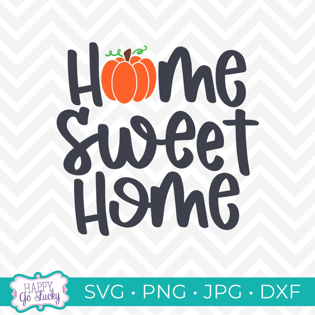 Home Sweet Home Pumpkin SVG
