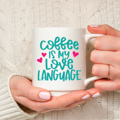 Coffee is My Love Language SVG