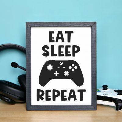 Eat Sleep Game Frame