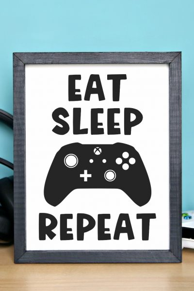 Eat Sleep Game Frame