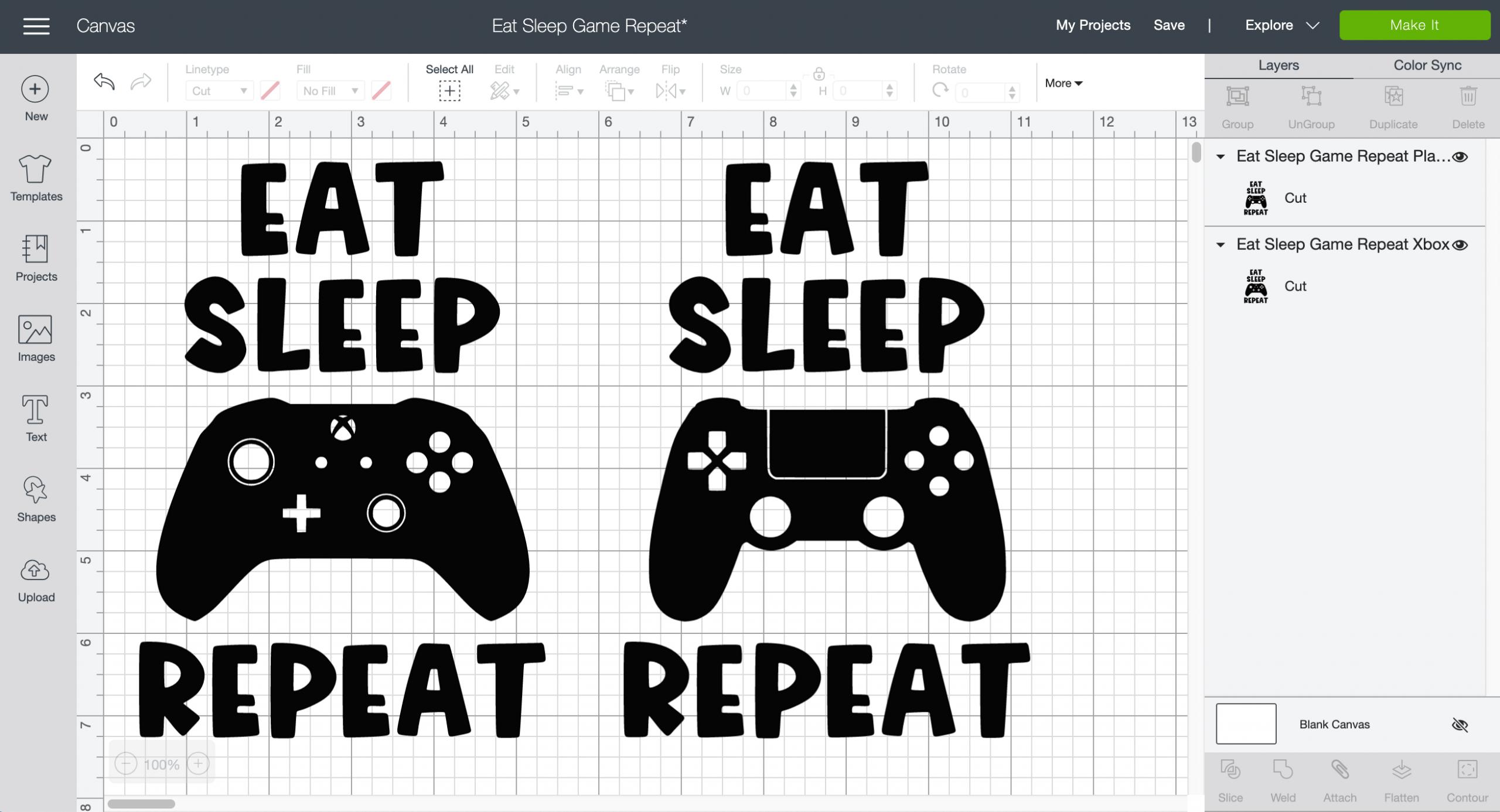 Eat Sleep Game Repeat SVG Cut Files