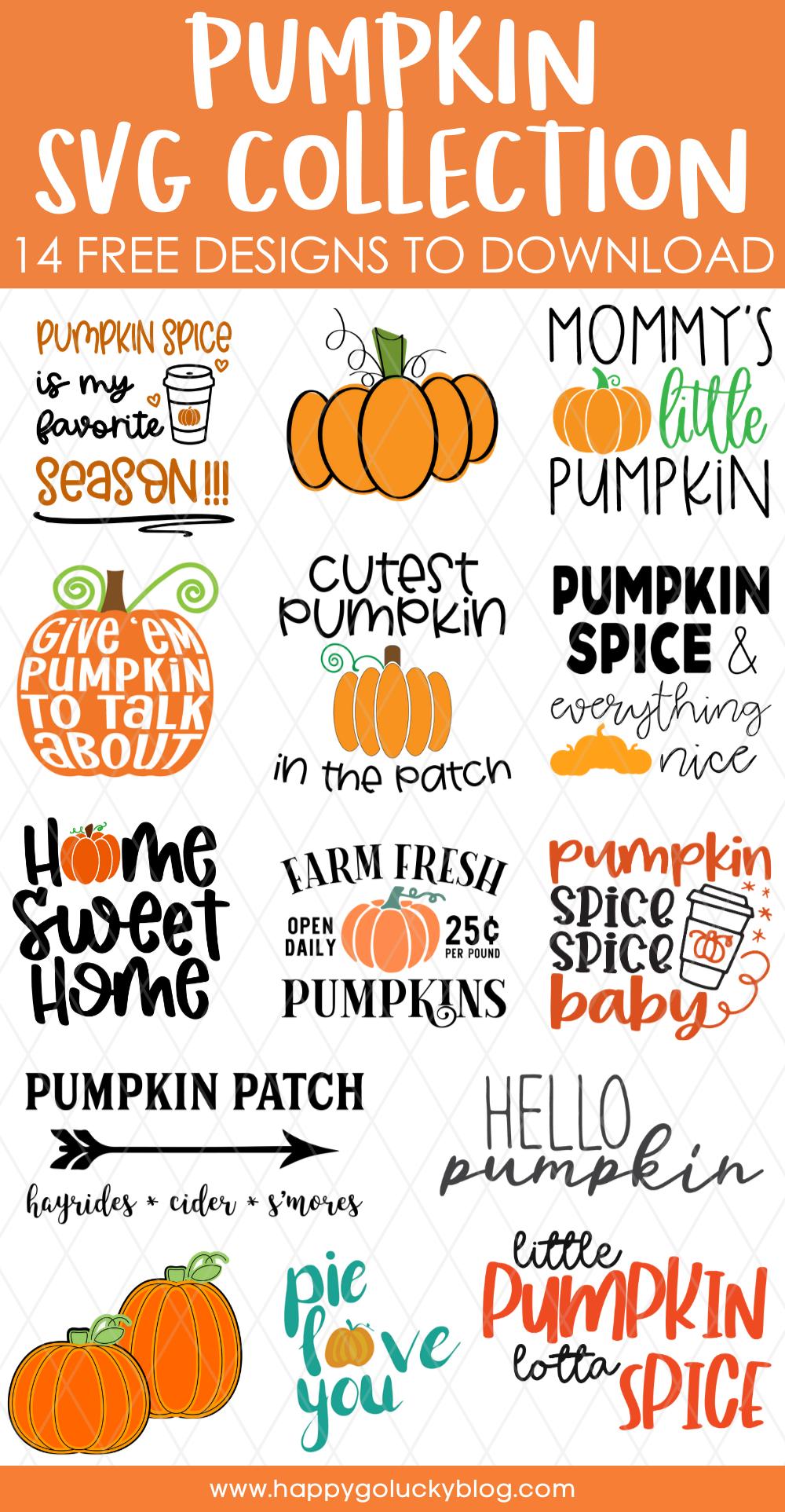 Free Pumpkin SVG Collection