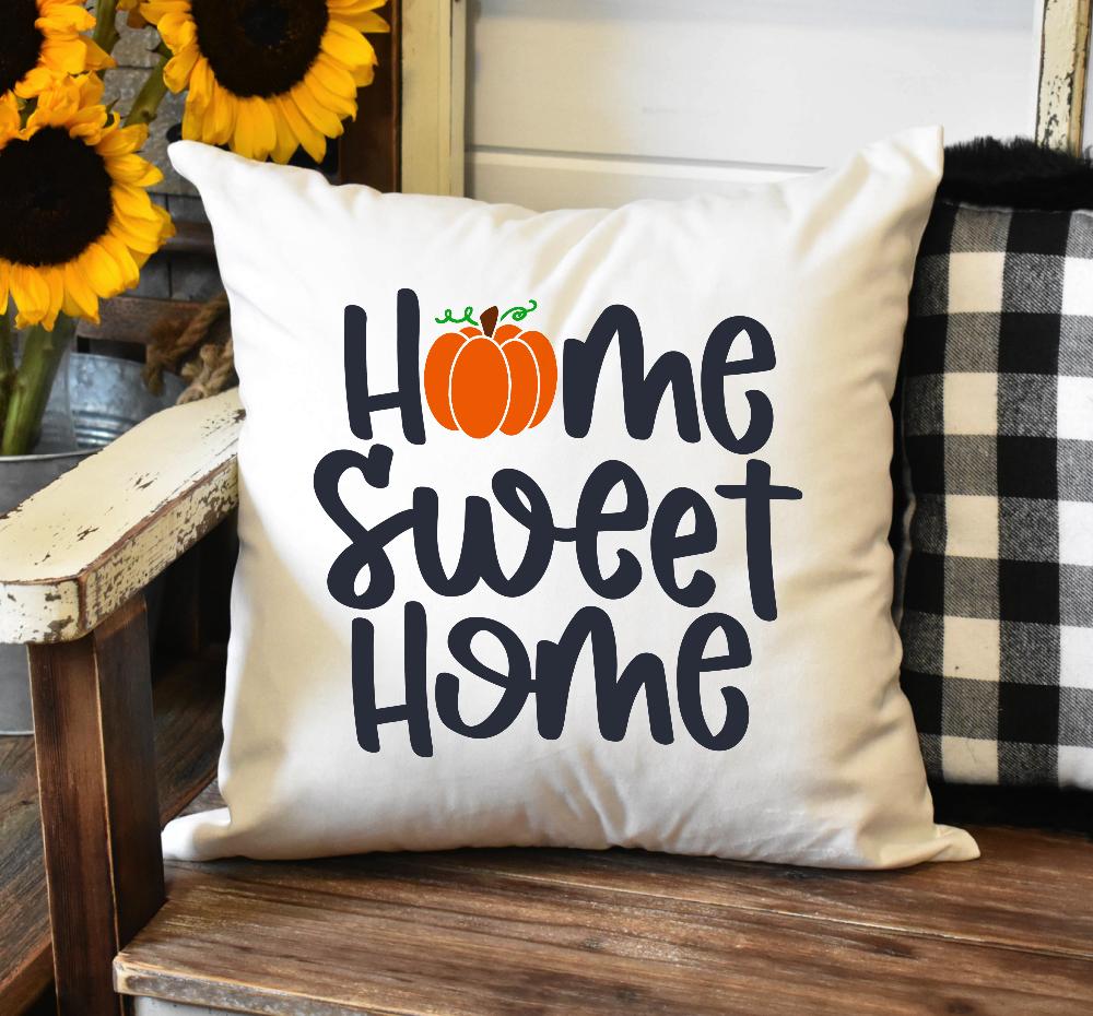 Home Sweet Home Pumpkin Pillow