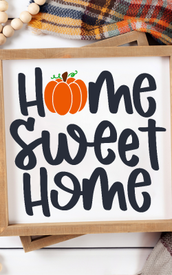 Home Sweet Home Pumpkin Sign