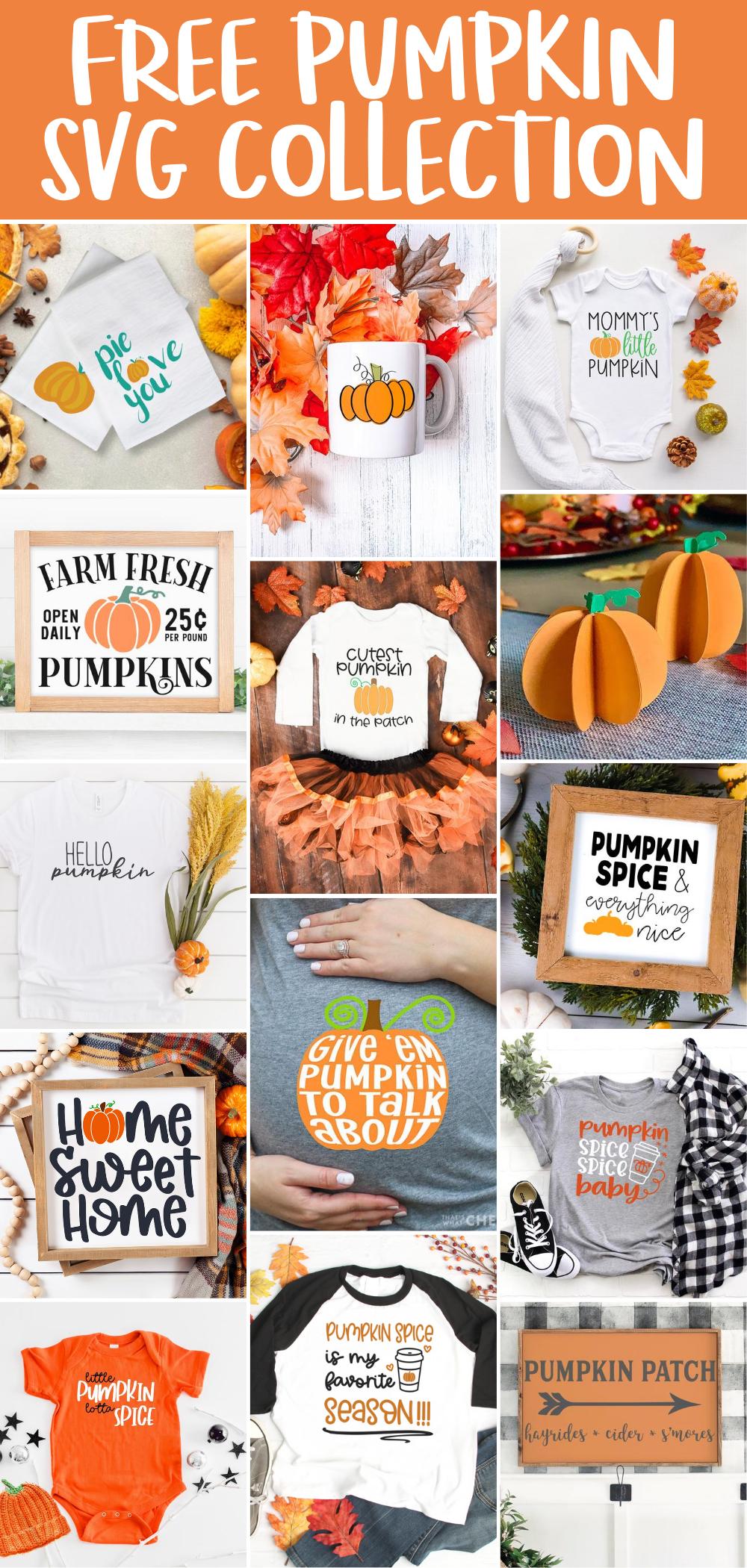 Free Pumpkin SVG Collage