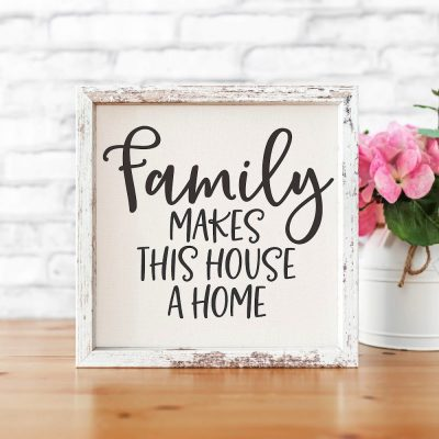 Family Makes This House a Home SVG Cut File