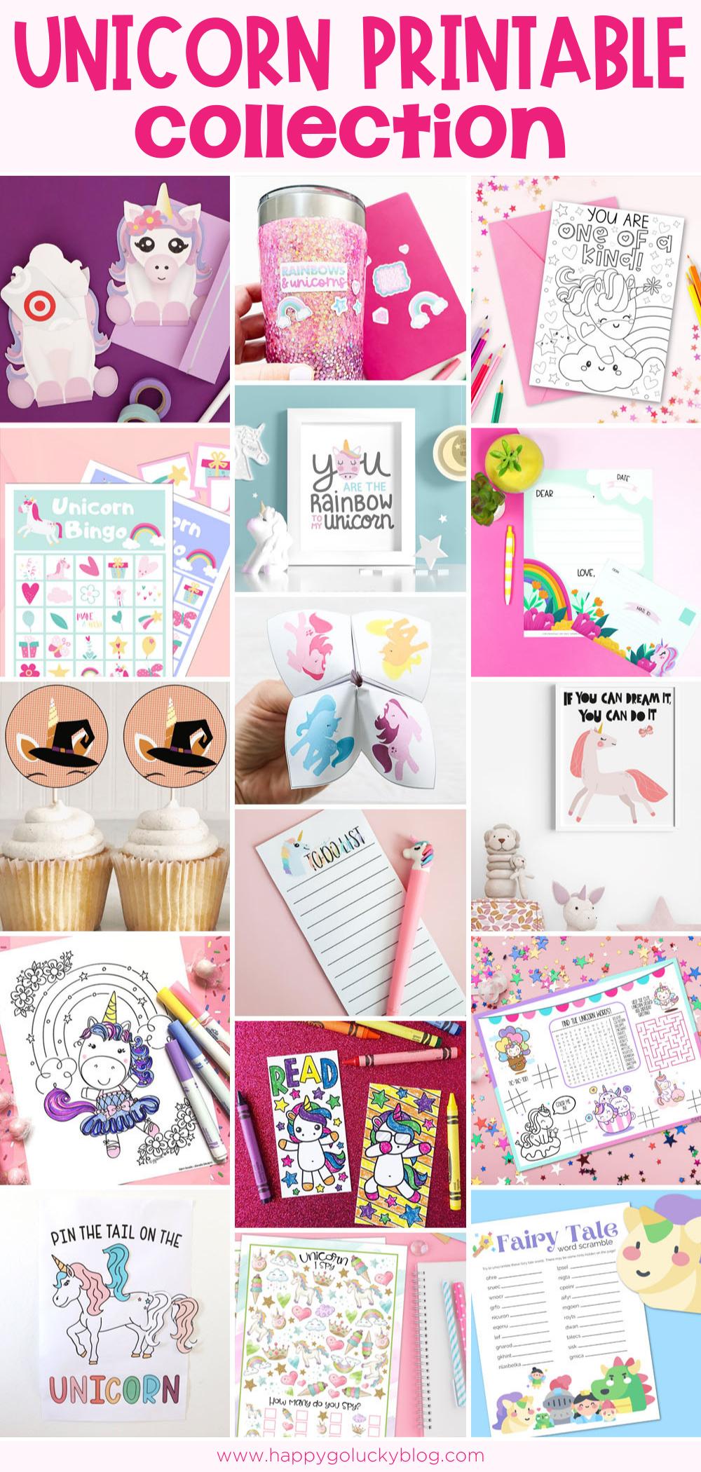 Free Unicorn Printable Collection