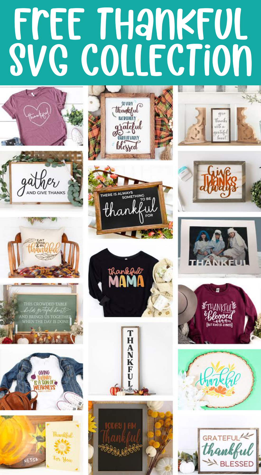 Free Thankful SVG Collection