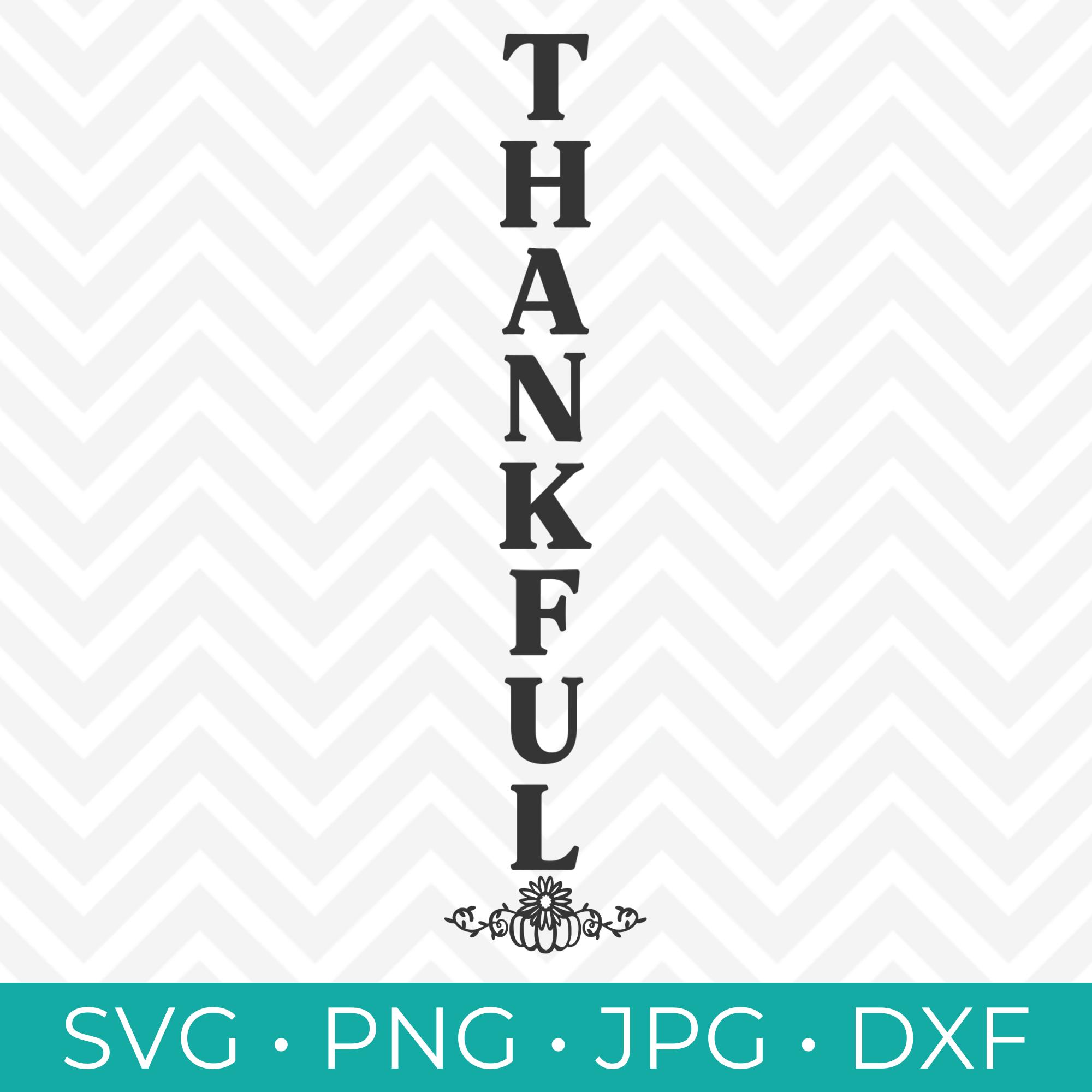 Thankful Vertical SVG