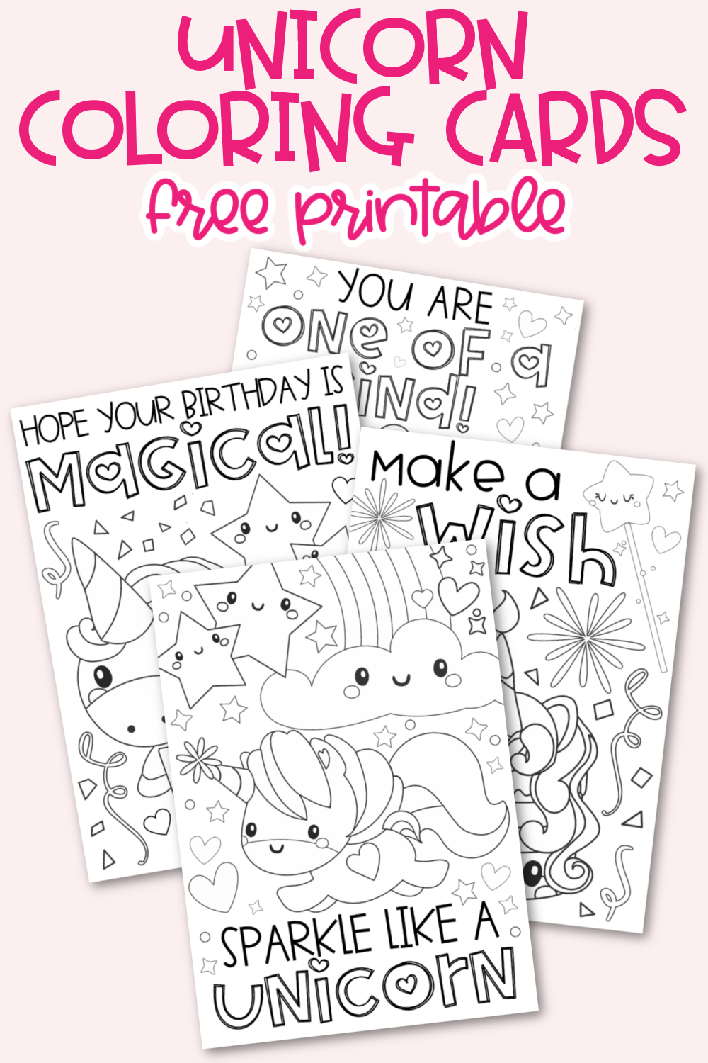 Unicorn Coloring Cards(1)