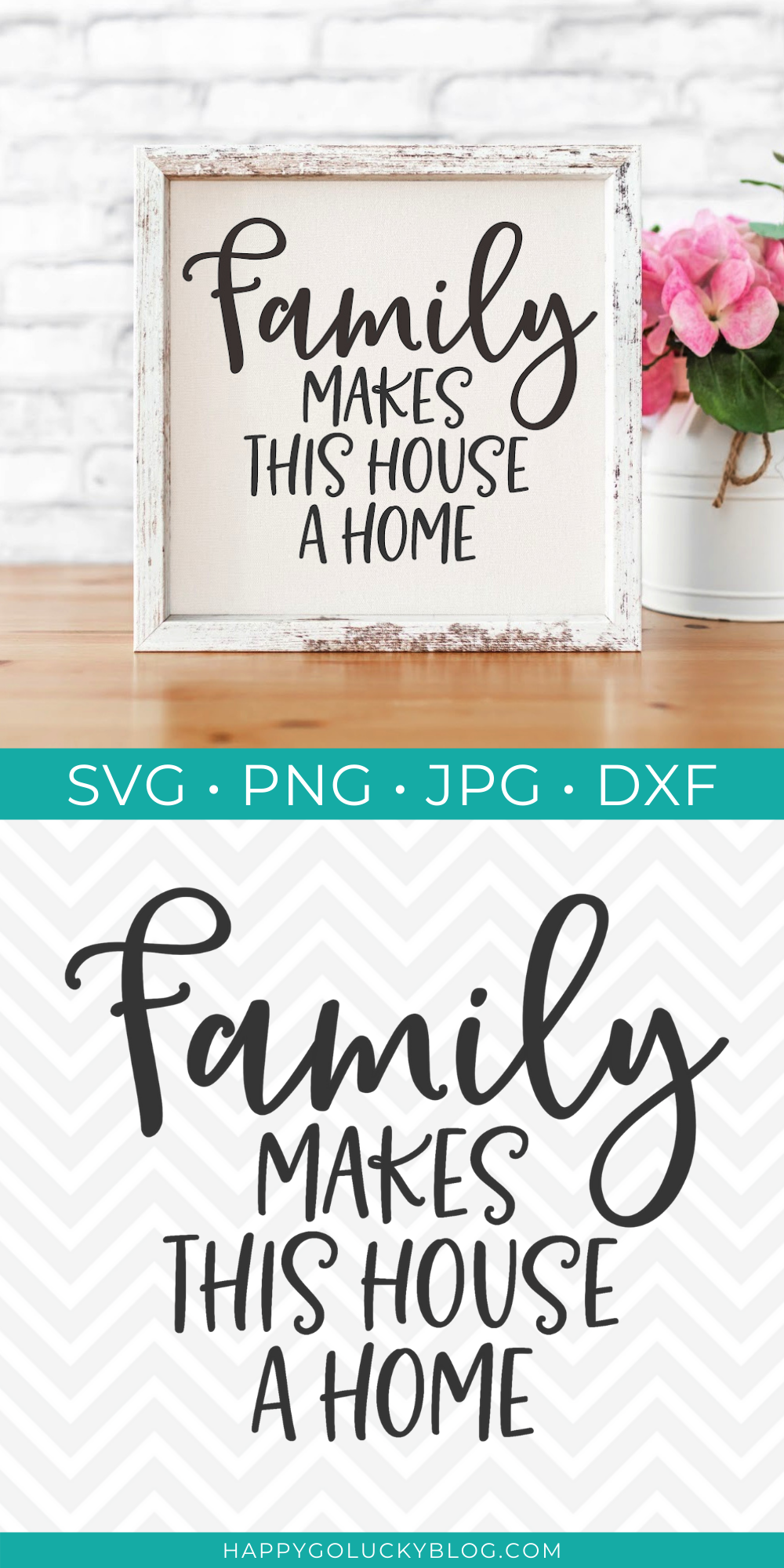 Free SVG Cut File - Family Makes This House a Home